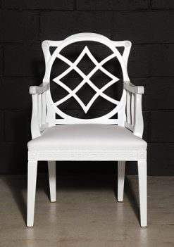 Cream Painted Georgian Style Elbow Chair