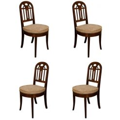 Four French Art Deco Mahogany Side Chairs, c. 1930