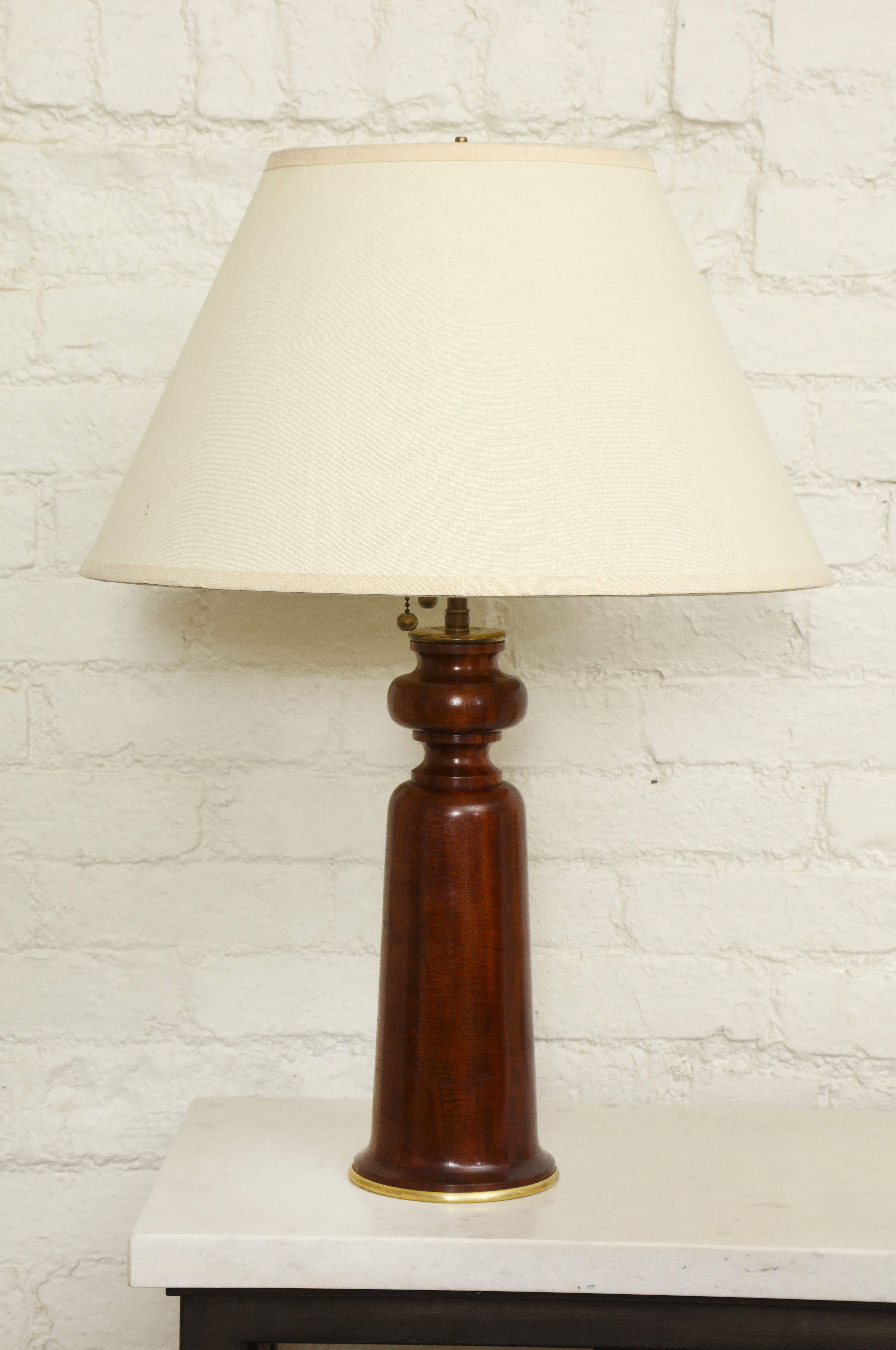 Pair of solid mahogany table lamps burden galleryburden contemporary lighting pair of solid mahogany table lamps geotapseo Choice Image