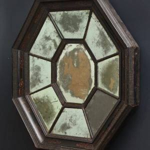Late 17th Century Flemish Baroque Octagonal Mirror with Divided Mirror-Plate