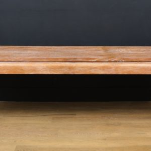 Large French Cerused Oak Modern Console or Center Table, 1940's