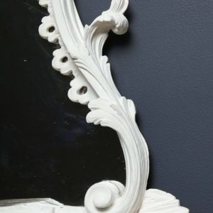 A White Painted George III Style Chippendale Girandole Mirror in the style of Syrie Maugham