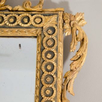 Large Italian Neoclassical Giltwood Mirror, Probably Naples