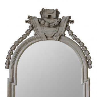 A Beautifully Carved North European Limewood Mirror, 18th Century