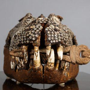 Rare Inlaid Crocodile Head from Papua New Guinea