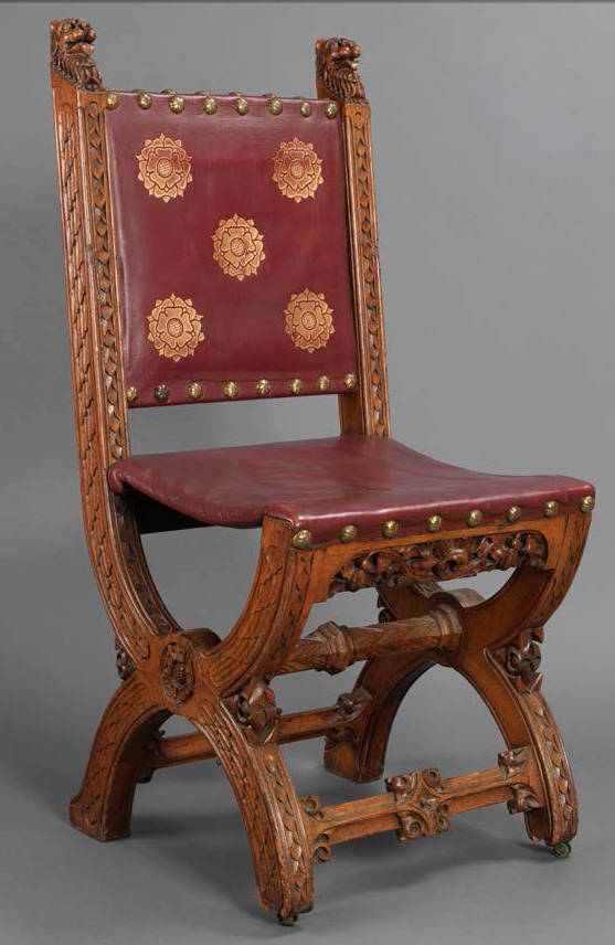 Princes' Chamber Chair, Westminster by A.W.N Pugin, 1847