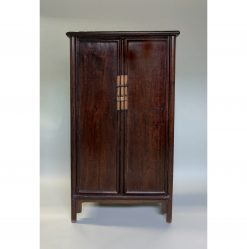 A Tielimu Sloping-Stile Wood-Pin Hinged Cabinet, 18th Century