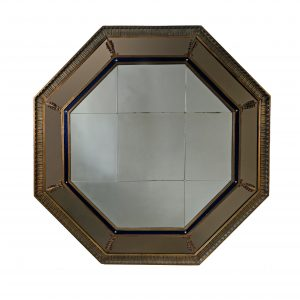 A Large Octagonal Art Deco Mirror from SS Duchess of Bedford, Circa 1928