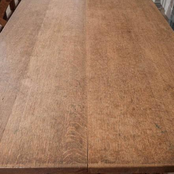 A Large Arts and Crafts Oak Library Table attributed to A. Romney Green