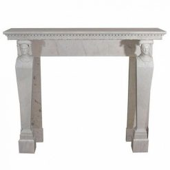 A French Directoire Marble Fireplace Mantel, Early 19th century