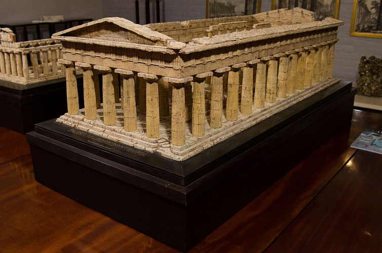 A Contemporary Cork Model of the Temple of Poseidon by German Artist Dieter Coellen