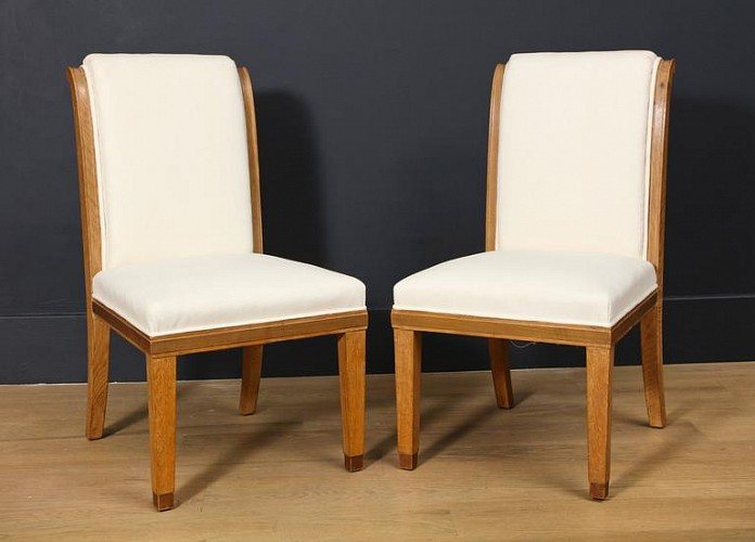 A Set Of 14 Oak Dining Chairs Attributed To Wake And Dean