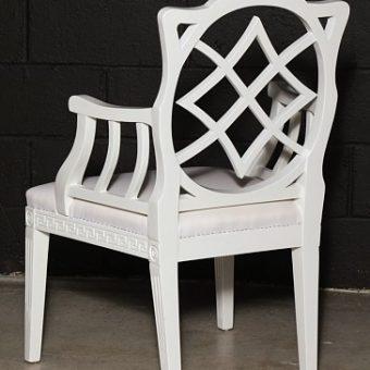 Cream Painted Georgian Style Elbow Chair