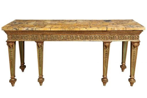 An Eighteenth Century Sienna Marble Veneered Top Supported on Adam Style Base