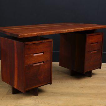 Double Pedestal Desk by George Nakashima, c. 1967