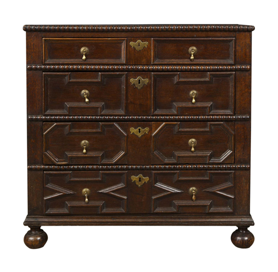 oak century drawer jacobean antiques of chest product english drawers dsc fireside