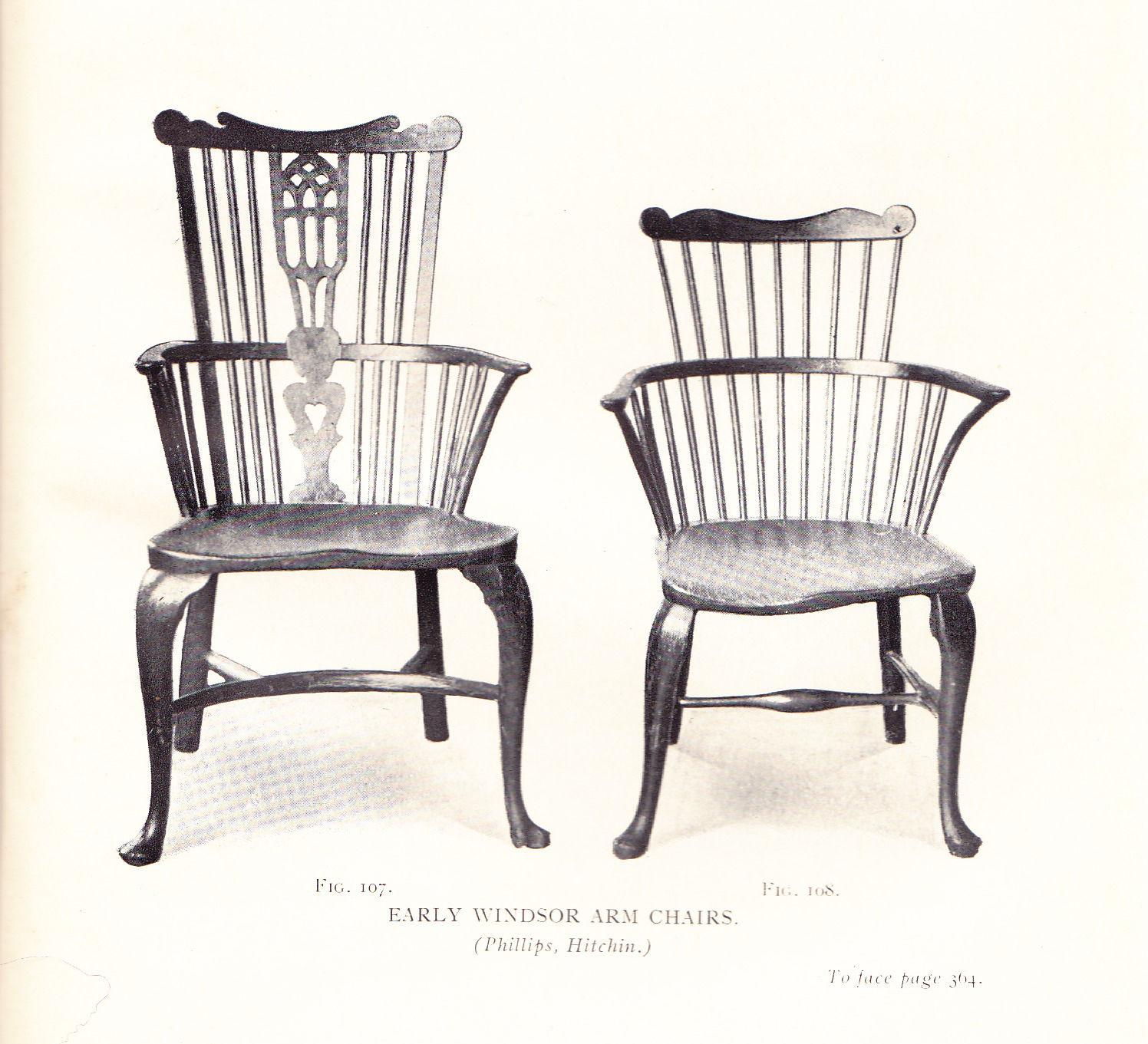 An Identical Thames Valley Windsor Arm Chair Is Illustrated In Fred  Burgess, Antique Furniture, 1919, Fig. 108 From Phillips Of Hitchin.