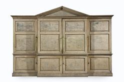 A Striking George II Painted Palladian Cabinet, Circa 1740