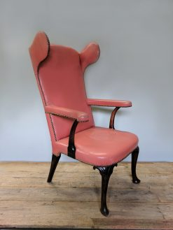 An Irish Georgian Style Mahogany Wing Armchair