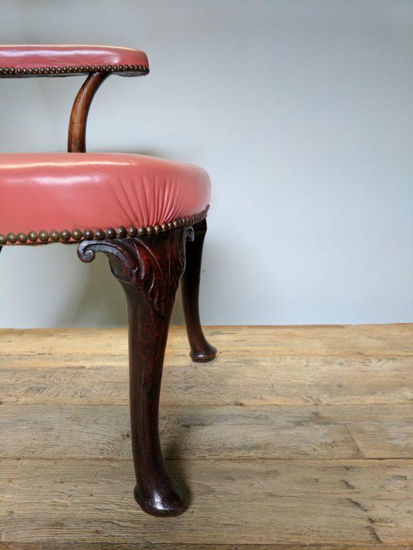 An Irish Georgian Style Mahogany Wing Armchair