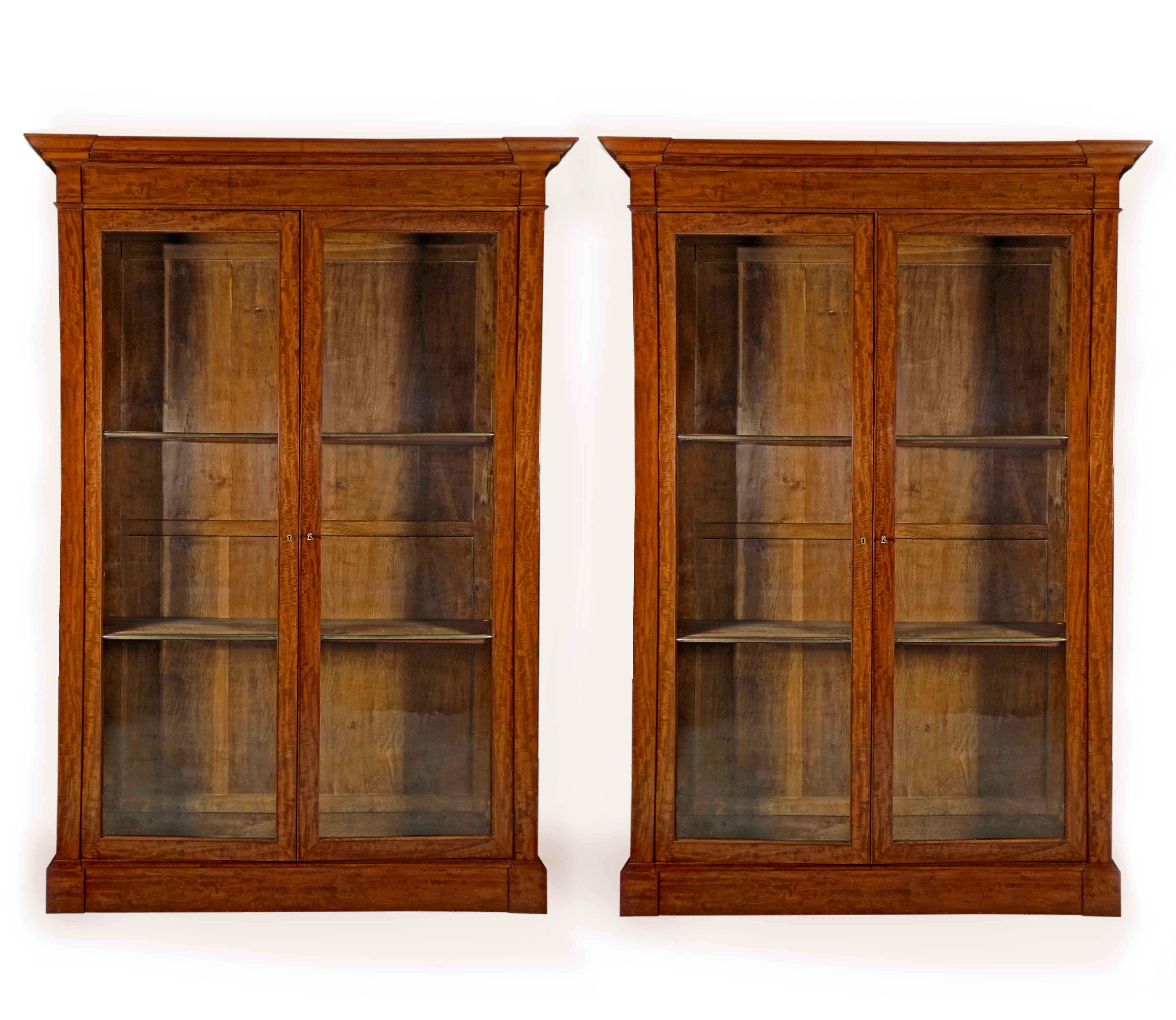 A Very Good Pair Of French Empire Mahogany Bibliotheques Circa 1810