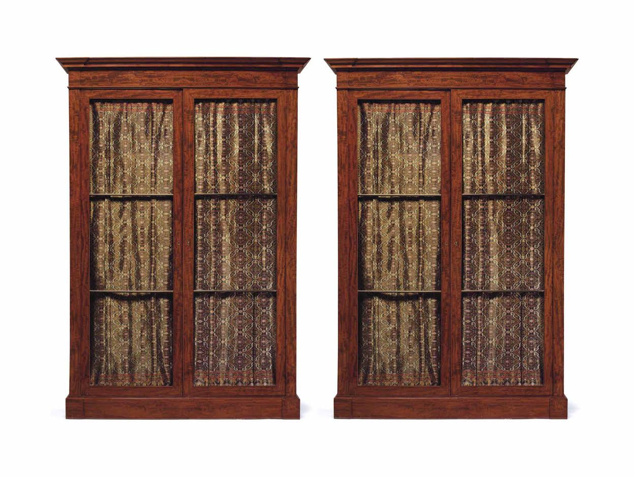 A Very Good Pair of French Empire Mahogany Bibliotheques, Circa 1810