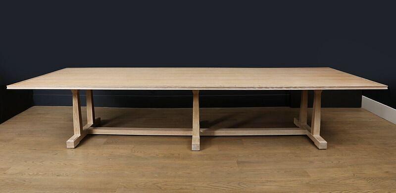 Crafts Style Oak Refectory Table Burden