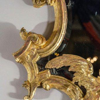 An Italian Rococo Giltwood Mirror, c. 1745